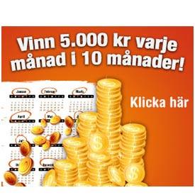 Vinn 5000kr i 10 månader